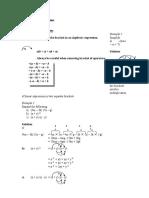 Algebraic Expressions 2