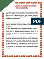 Día Internacional de La Erradicación Del Trabajo Infantil