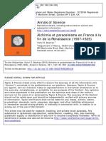 Alchimie et paracelsisme en France à la fin de la Renaissance (1567–1625)