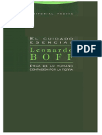 El Cuidado Esencial Leonardo Boff