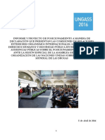 INFORME UNGASS 2016