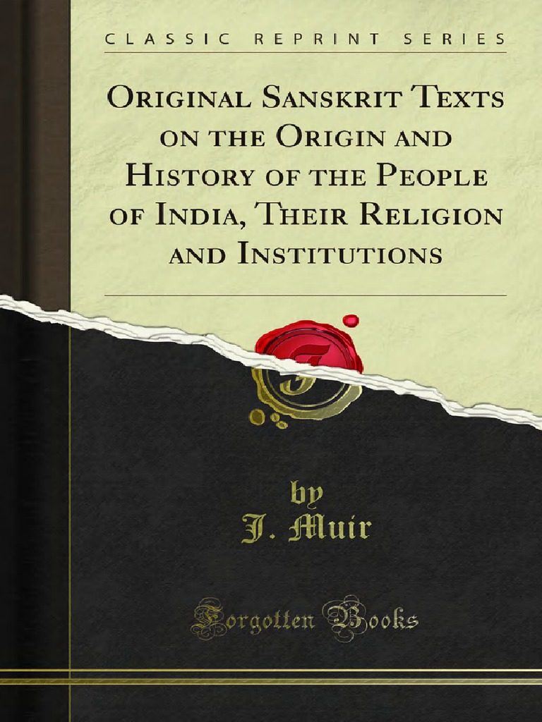 Original Sanskrit Texts on the Origin and History of the People of