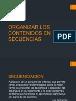 Organizar Los Contenidos en Secuencias