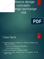 Alliance Design Concepts Foreign Exchange Risk