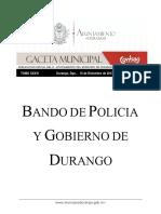 bando de policia y gobierno