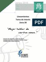 Lineamientos Tema de Interés Zona 20