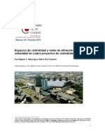 Espacios de centralidad y redes de infraestructura. La urbanidad en cuatro proyectos de centralidad urbana