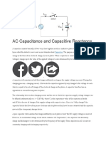AC Capacitance and Capacitive Reactance