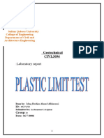 Plastic Limit
