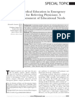 Continuing Medical Education in Emergency Plastic Surgery for Referring Physicians a Prospective Assessment of Educational Needs