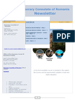 Honorary Consulate of Romanian Newsletter 1
