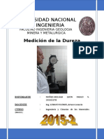 6° MEDICION DE LA DUREZA