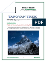 Tapovan Trek Post Monsoon 2015