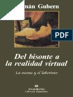 Gubern Roman-Del Bisonte a La Realidad Virtual