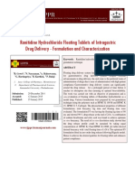 Ranitidine Hydrochloride Floating Tablets of Intragastric Drug Delivery
