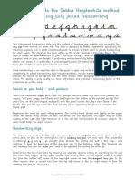 Introduction Debbie Handwriting Programme