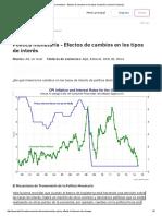 Política Monetaria - Efectos de Cambios en Los Tipos de Interés _ Economía _