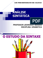 6 Estude Análise Sintática Faça o Download Do ANEXO 06