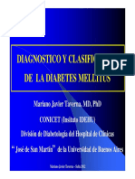 CLASE 1 CLASIFICACION & DIAGNOSTICO DIABETES - MARIANO TAVERNA - SALTA 2012 [Modo de compatibilidad].pdf