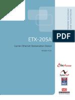 Manual ETX-205A