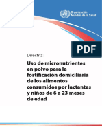 Oms Micronitrientes Niños y Adultos