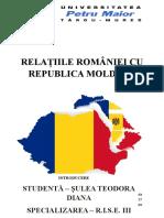 Șulea Teodora Relațiile Româno Moldovene