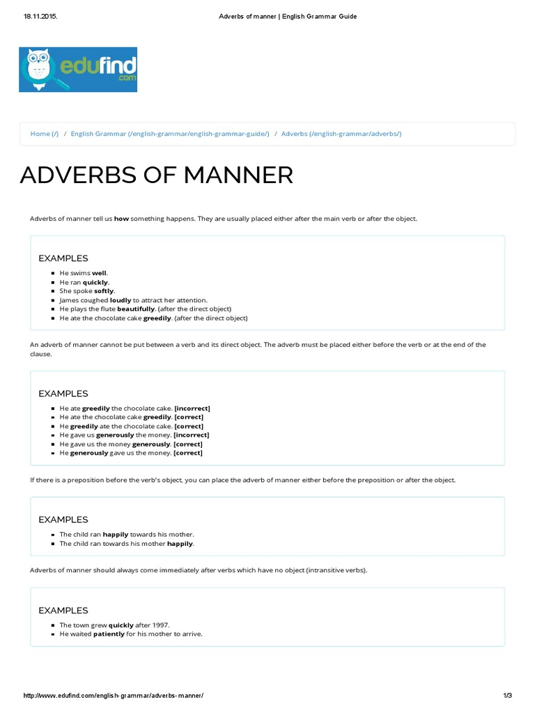 What Are Adverbs And Examples Images Example Cover Letter For Resume
