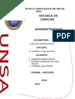 Trabajo de Auditoria- Sede Camaná