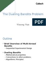 Dueling Bandits