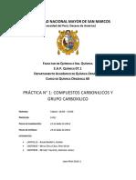 Informe 08 Quimica Organica AII