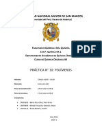 Informe 10 Quimica Organica AII