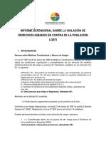 Informe sobre discriminacion a la poblacion LGBTI