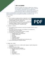 Estructura de La Demo