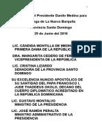 Discurso del presidente Danilo Medina en acto de entrega de La Nueva Barquita.