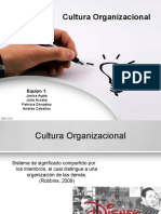 Cultura Organizacional. Equipo 1