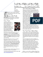 Issue #24, One Thousand and One Nights and One Night RPG Campaign Design 'zine