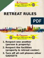 Retreat Rules