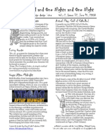 Issue #32, One Thousand and One Nights and One Night RPG Campaign Design 'zine