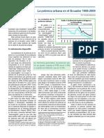La Pobreza Urbana en El Ecuador 1988-2009