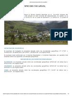 Datos Del Municipio de Cocapata