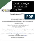 Dictionnaire Technique CTCQ