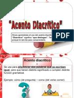 Acento Diacrítico 5 Básico 2015