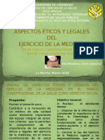 Aspectos Éticos y Legales Del Ejercicio de La Medicina - Final