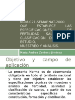 1. Norma Oficial Mexicana NOM-021-SEMARNAT-2000