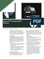 HP Compaq Dx2400 Business Data Sheet