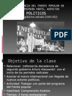 La Experiencia Del Frente Popular en Chile