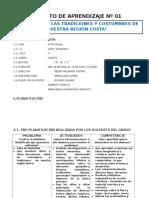 Copia de Unidad de Aprendizaje Integrada Nº 01 . Marzo 2016