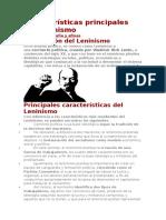 Características Principales Del Leninismo