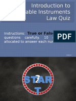 Quiz on Intro. to Negotiable Instruments Law