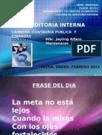 Auditoria Interna 2012